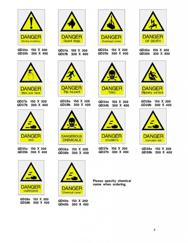 Neon Safety Sign Catalogue Neon